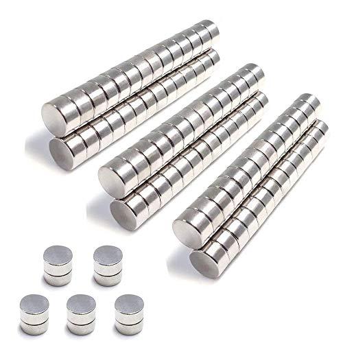 FEYG Magnete, Extrem Stark Magnete Neodym Magnetefür Magnettafel, Whiteboard, Kühlschrank(8x3mm 100pc)