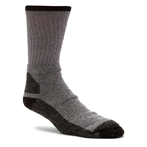 Wigwam Men's at Work Double Duty 2-Pack Crew Length Work Sock, Color: Grey, Size: MD (S1350-072-MD)