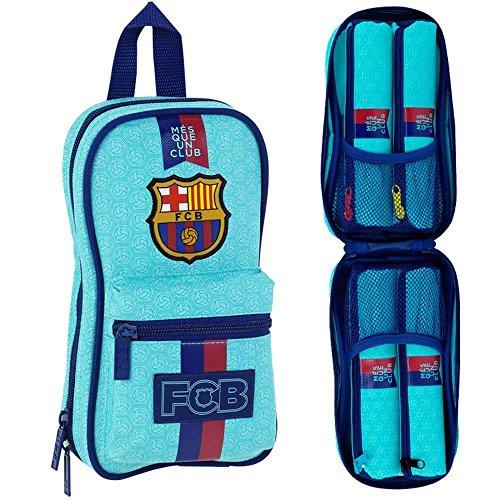 Beauty Case con 4 Astucci F.C. Barcelona 2ª Equipacion 17/18 Ufficiale