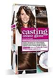 L'Oréal Paris Casting Crème Gloss Coloration Ton Sur Ton Sans Ammoniaque 4.00 Châtain Craquant - Lot de 2