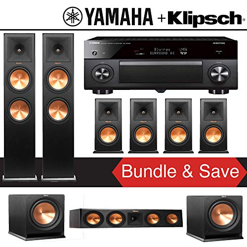 Why Choose Klipsch RP-280F 7.2-Ch Reference Premiere Home Theater Speaker System with Yamaha AVENTAG...