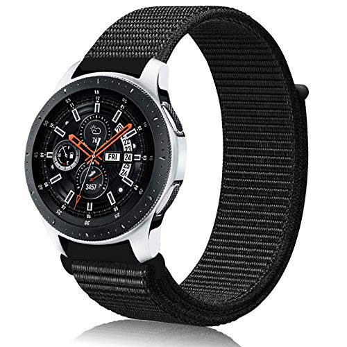 Th-some 22mm Correa para Samsung Gear S3,Pulsera de Nylon para Galaxy Watch 46mm,Banda de Reloj Nylon Deporte Pulsera de Repuesto para Galaxy Watch 46mm/Galaxy Watch Active/Gear S3 Classic/Frontier