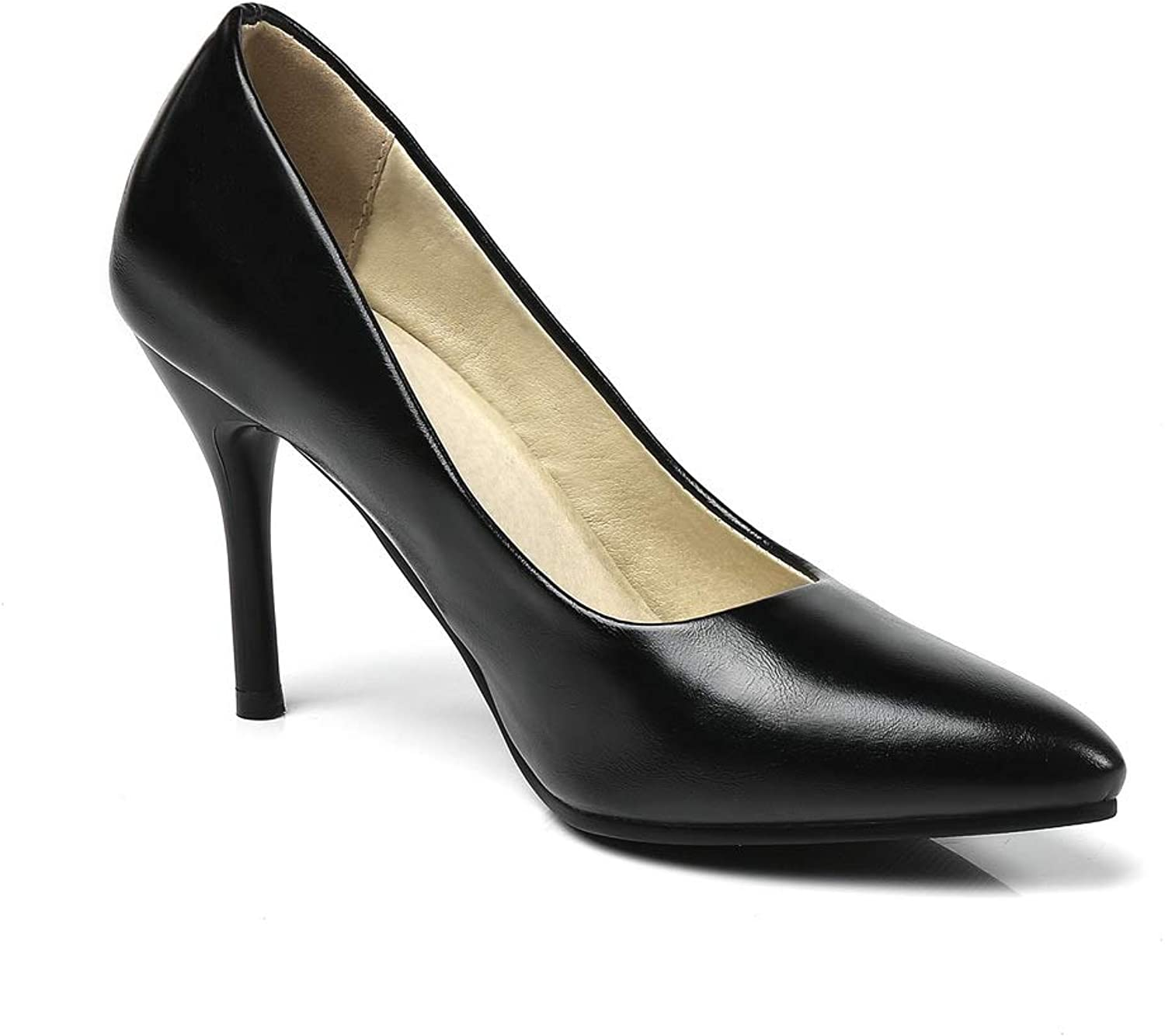 AdeeSu Womens Dance-Ballroom High-Heels Solid Leather Pumps shoes SDC06360