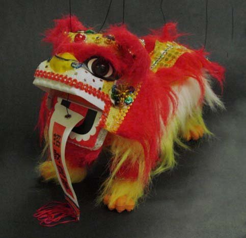 Chinese Lion Dragon Marionette Puppet #21423 by Unknown