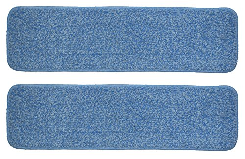 "Nine Forty | 24"" Microfiber Flat Mop Head Replacement Pads for Industrial 