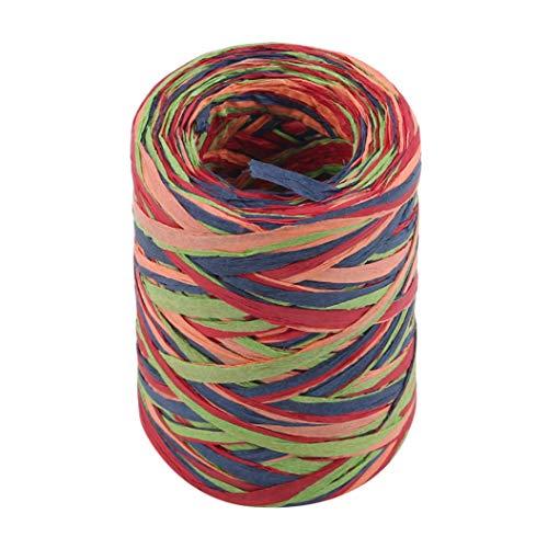 LPOQW Cinta de papel de rafia de colores para ramos, decoracin de manualidades, regalos, fiesta, decoracin del hogar, 80 m, color 1#