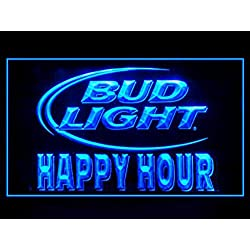 Lamazo Bud Light Beer Happy Hour Drink Led Light Sign