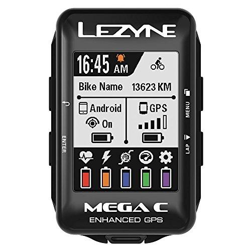 レザイン(LEZYNE) メガカラーGPS サイクルコンピュータ 日本語対応 2.2インチ超高画質カラー大画面 ブラッ...