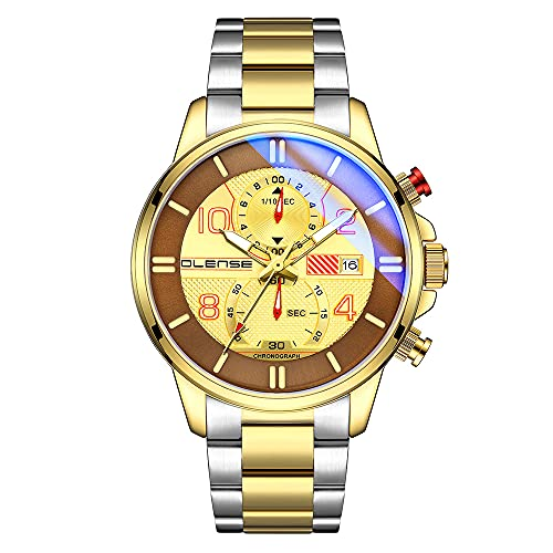 Relojes De Cuarzo Relojes De Moda No Mecánicos De Moda para Hombres 9005M de Oro