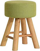 Yxsdd Changing Stool Stool Upholstered Footstool Wood Legs Round Stool Dustproof Chair Dressing Chair Makeup Stool Green L...