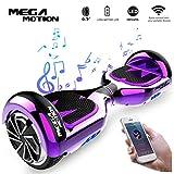Mega Motion Hoverboard E1 Self Balanced Electric Scooter -built in Bluetooth Speaker- LED