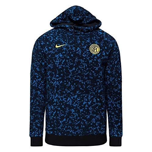 Nike INTER M NK GFA FLC PO HOOD, Felpa Uomo, black/Tour yellow/(tour yellow) (no sponsor), M