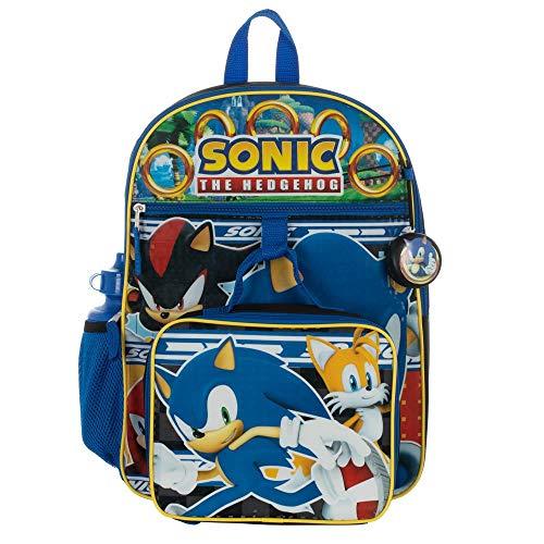 Kids Sonic Backpack 5-Piece Combo School Supplies Set