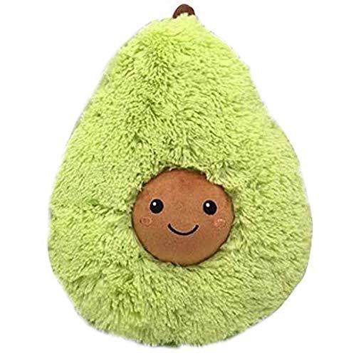 LICHENGTAI Plüschkissen Plüschtier Avocado, Kreative 3D Avocado Plüsch Spielzeug Gefüllte Kissen Baby Kinderzimmer Kissen Weiche Spielzeug Sofa Auto Dekorative Kissen, 20cm