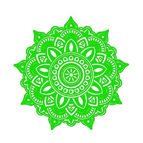 Drawihi Stickers Sticker décoratif Mandala Décoration Murale Amovible Réutilisable pour Chambre Salon(Vert)