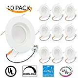 10 PACK - 16Watt 5/6-inch ENERGY STAR UL-listed Dimmable LED Downlight Retrofit Recessed Lighting Fixture - 4000K Cool White LED Ceiling Light - 960LM, CRI 90