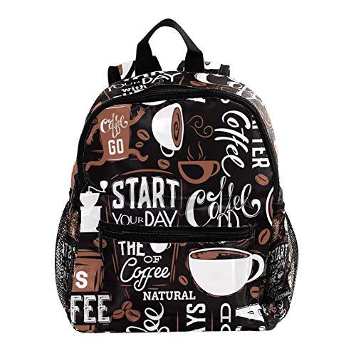 Kinderrucksack Kindertasche Cartoon Rucksack für Vorschule Jungen Mädchen Kleinkind Kindergarten Cartoon Kaffeetasse