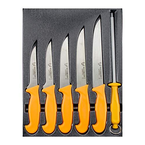 Metzgermesser, Küchenmesser, Schlachtermesser, Stechmesser, Messer 6 tlg.