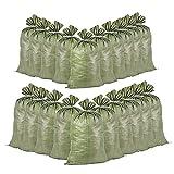 10/20 PCS Sands Bolsas de inundación, bolsas de arena para defensa de inundaciones, sacos de inundación de polipropileno tejidos verdes, bolsas de arena rellenas para inundaciones, barrera de agua de