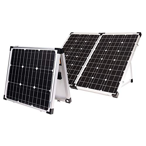 Go Power! GP-PSK-130 130W Portable Folding Solar Kit with 10 Amp Solar...