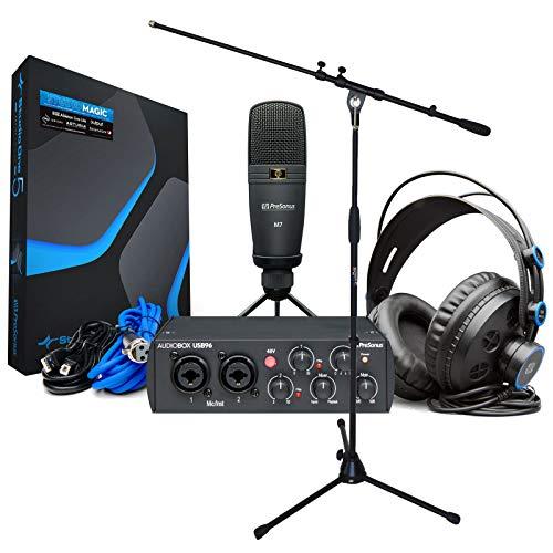 Presonus Audiobox 96 Studio Recording Set + supporto microfono Keepdrum
