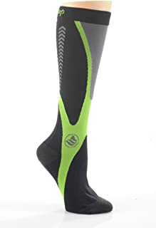 Powerstep Recovery Compression Socks Black/Green LG