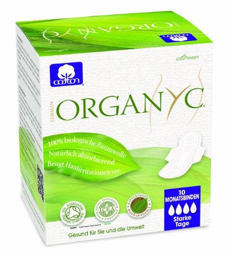 Organyc - Compresas de noche con alas - 100% Algodón Bioló