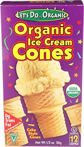 LETS DO Organic Ice Cream Cones 12 Count, 1.2 OZ