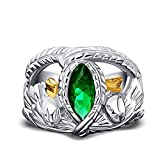 ZiFei Ring 925 Sterling Silver Aragorn Rings of Barahir LOTR Wedding Ring for Men Movie Fan Jewelry,12