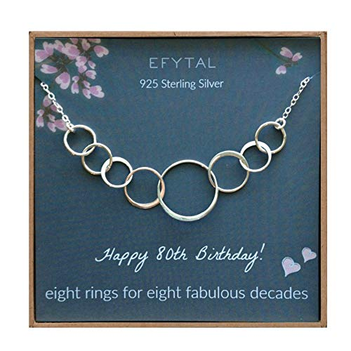 80th Birthday Circle Necklace