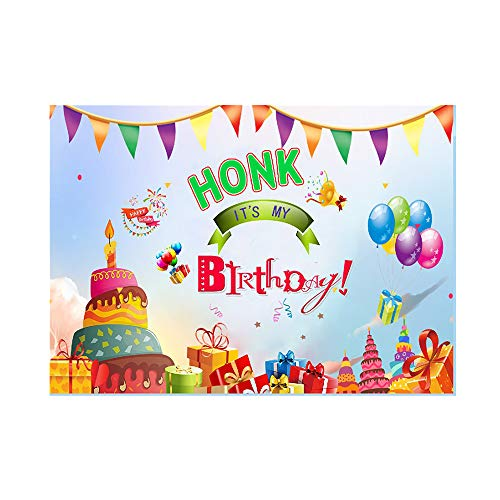 Jelacy Larger Happy Birthday Yard Sign Honk It's My Birthday Yard Sign Quarantine Banner 82''x59'' for Kids Birthday Party Flags Decorations Outdoor Indoor
