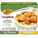 Kosher MRE Meat Meals Ready to Eat, Chicken Meat Balls & Mushrooms (1 Pack) - Prepared Entree Fully...