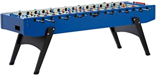 Garlando XXL Foosball Table for 8 Players, with 10 Foosballs - Outdoor Soccer Table Game for Kids, Adults, with Telescopic Safety Bars - Premium Bar Games, Blue, Extra Large