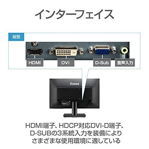 『iiyama モニター ディスプレイ XU2290HS-B2 (21.5インチ/フルHD/AH-IPS/HDMI,D-sub,DVI-D)』の5枚目の画像