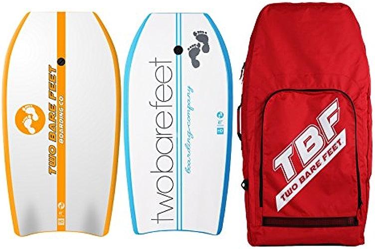Deux Pieds nus 104,1cm Bodyboard Bundle 2x 41planches de bodyboard de votre choix + Premium double Sac de transport (Rouge) (104,1cm d'antenne (Orange), 104,1cm Boarding Co. (Bleu))