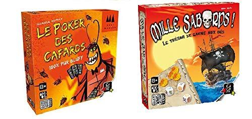 UDC Lot de 2 Jeux de société GIGAMIC - Le Poker des cafards - Mille sabords