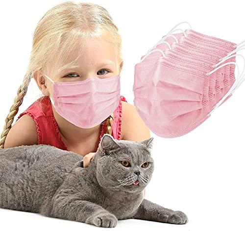 ASTOVIA OP Masken kinder Rosa, medizinischer mundschutz, TYP IIR BFE ≥ 99% CE Zertifiziert medizinisch Gesichtsmaske Rosa, 50 Stück einwegmasken, medizinische Mund nasen schutzmaske