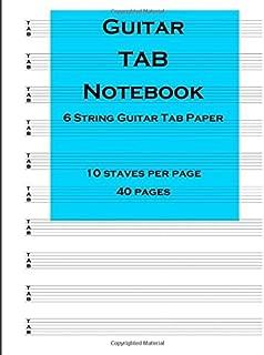 By Blenham Press Guitar Tab Notebook: 6 string guitar TAB paper [Paperback]