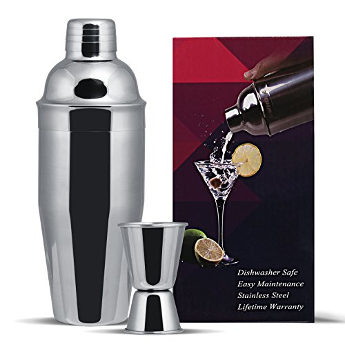 Gwhole Kit Shaker  Cocktail en INOX 750ml avec Filtre...