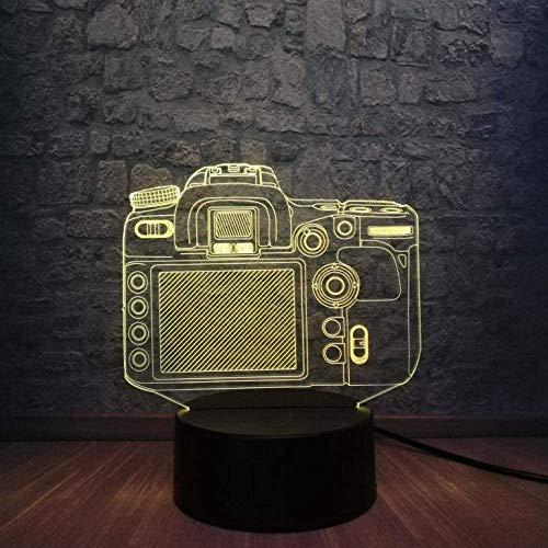 3D-Kamera Touch Remote LED 7 Farbwechsel Nachtlicht Illusion Nachttisch Schlaflampe Dekor Fans Kind Weihnachten Geburtstagsgeschenk