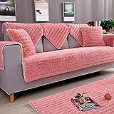IUYJVR Housses de canapé en Peluche sectionnelles, housses de Coussin de canapé antidérapantes, protecteur de meubles pour 1 2 3 4 coussins Housse de canapé pour animaux de compagnie pour canapé-ro