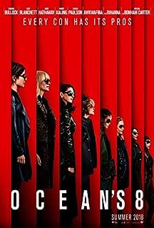 OCEAN'S 8 (2018) Original Authentic Movie Poster 27x40 - Double-Sided - Sandra Bullock - Cate Blanchett - Helena Bonham Carter - Anne Hathaway