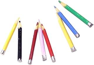 Lápiz Titular con lápices casa de muñecas en miniatura escala 1.12 de papelería