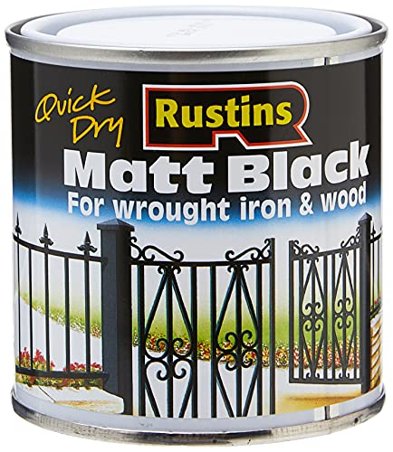 Rustins Matt Black Paint, 250ml