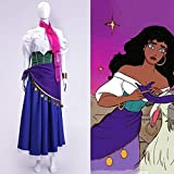 LJYNB Halloween El jorobado de Notre DameDisfraz demujer gitanaEsmeralda Juego de rol de ópera Notre-Dame de Paris Esmeralda vestido XL Esmeralda