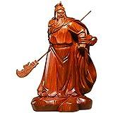 Feng Shui Chino Estatua de Guan Gong Dedicado de la sala en busca de fortuna Guan Yu Wu Guan Caishen eryë Dios de la Riqueza Buda Adornos espíritus malignos dinero Dibujo Riqueza Fortuna Buen Regalo A