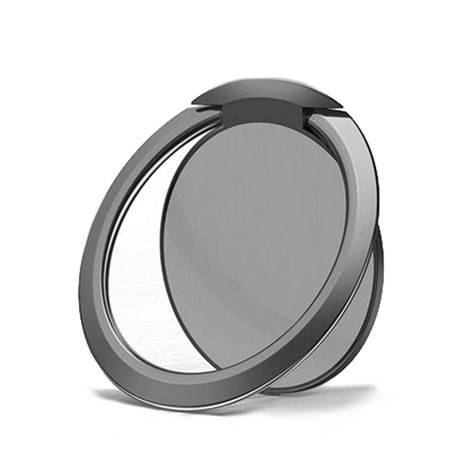 パレード食器棚トムオードリースYuJiny 超薄型 亜鉛合金製リングホルダー バンカーリング 落下防止 360度回転 ホールドリング iPhone Android多機種対応 (グレー)
