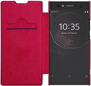 Sony Xperia XA2 Ultra ケース DISLAND [スムーズ][スタイリッシュ]秦の古典的なフリップ革カード スロット財布ケース カバー,レッド