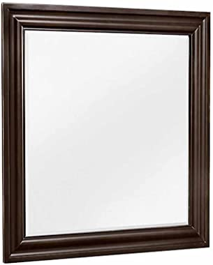 Aprodz Mango Wood Alexan Dresser Decorative Mirror Frame| Wooden Mirror | Brown Finish