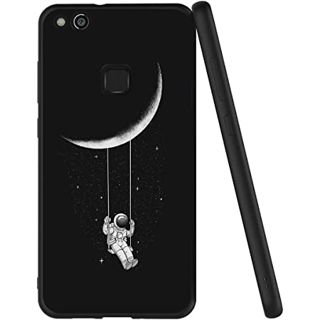 Yoedge Cover Huawei P10 Lite, Sottile Antiurto Custodia Nero Silicone TPU con Disegni Pattern Ultra Slim 360 Protective Bumper Case per Apple Huawei ...